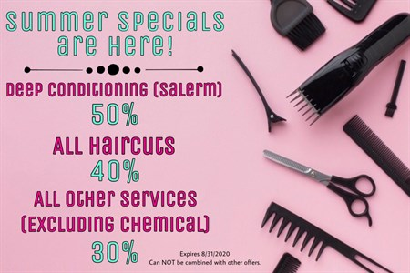 Summer Specials are here! Photo